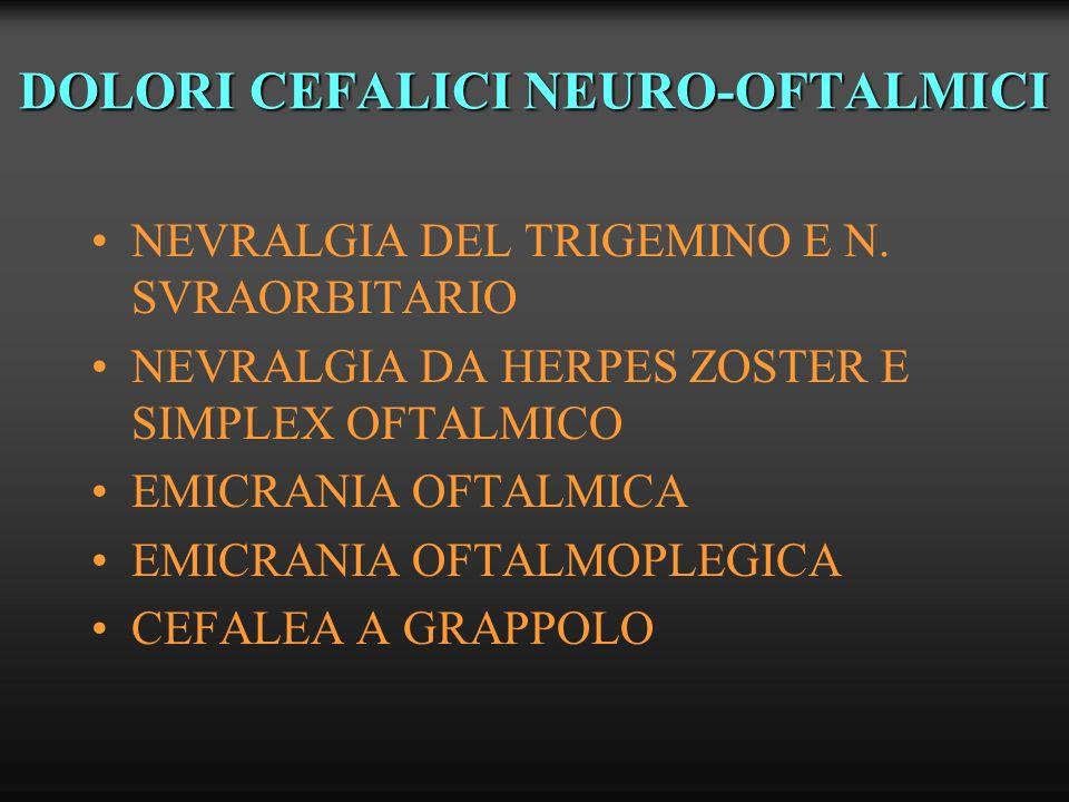 DOLORI CEFALICI NEURO-OFTALMICI