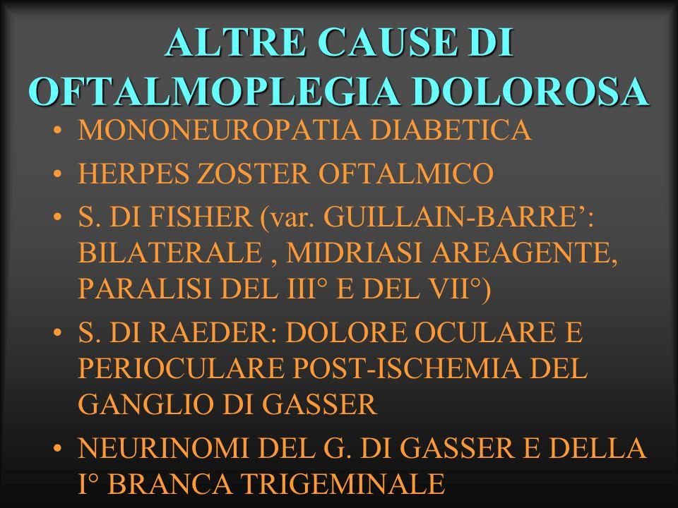 ALTRE CAUSE DI OFTALMOPLEGIA DOLOROSA