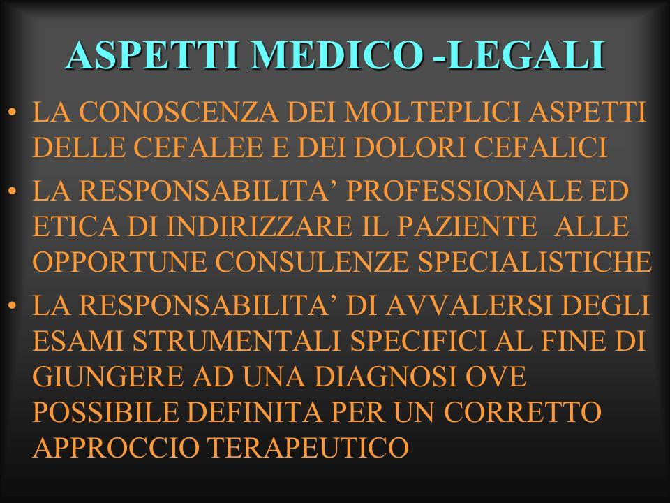 ASPETTI MEDICO -LEGALI