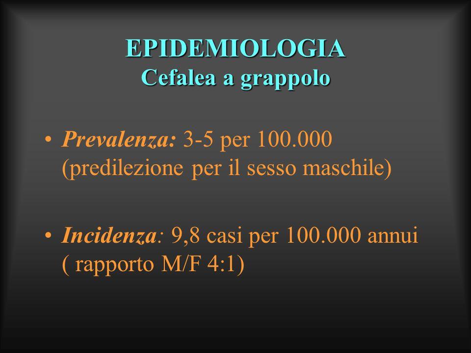 EPIDEMIOLOGIA Cefalea a grappolo