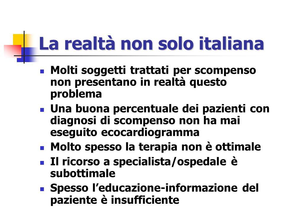 La realtà non solo italiana