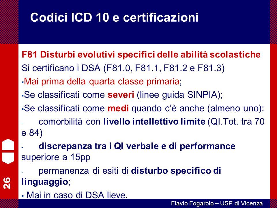 Codici ICD 10 e certificazioni