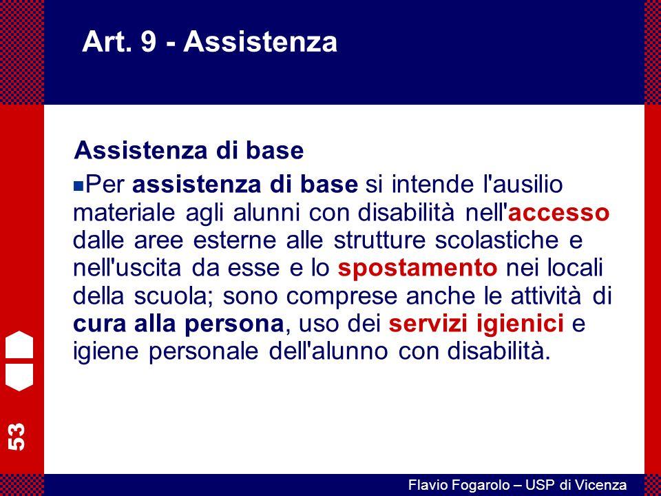 Art. 9 - Assistenza Assistenza di base