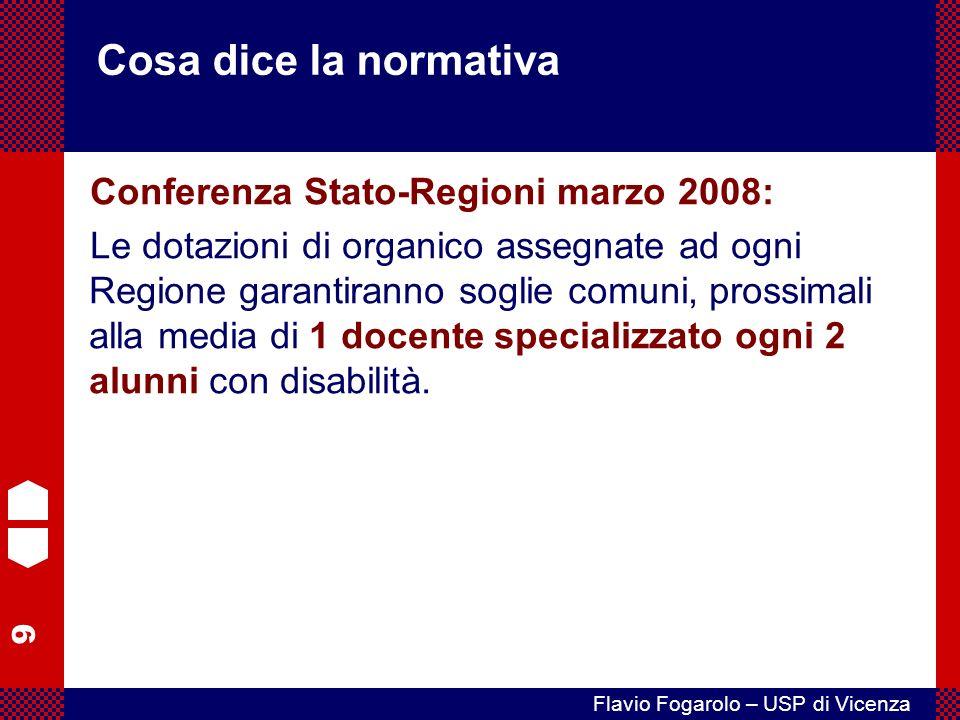 Cosa dice la normativa Conferenza Stato-Regioni marzo 2008:
