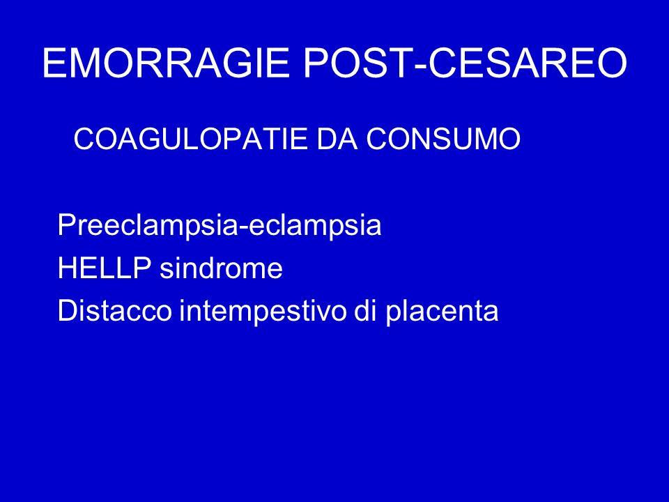 EMORRAGIE POST-CESAREO