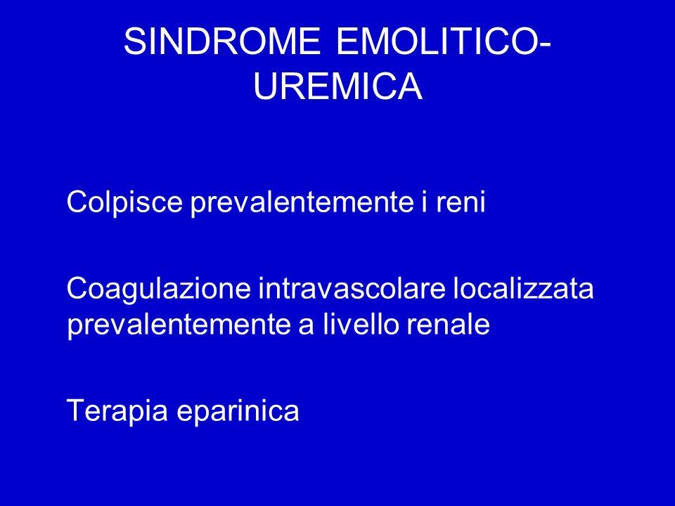 SINDROME EMOLITICO-UREMICA