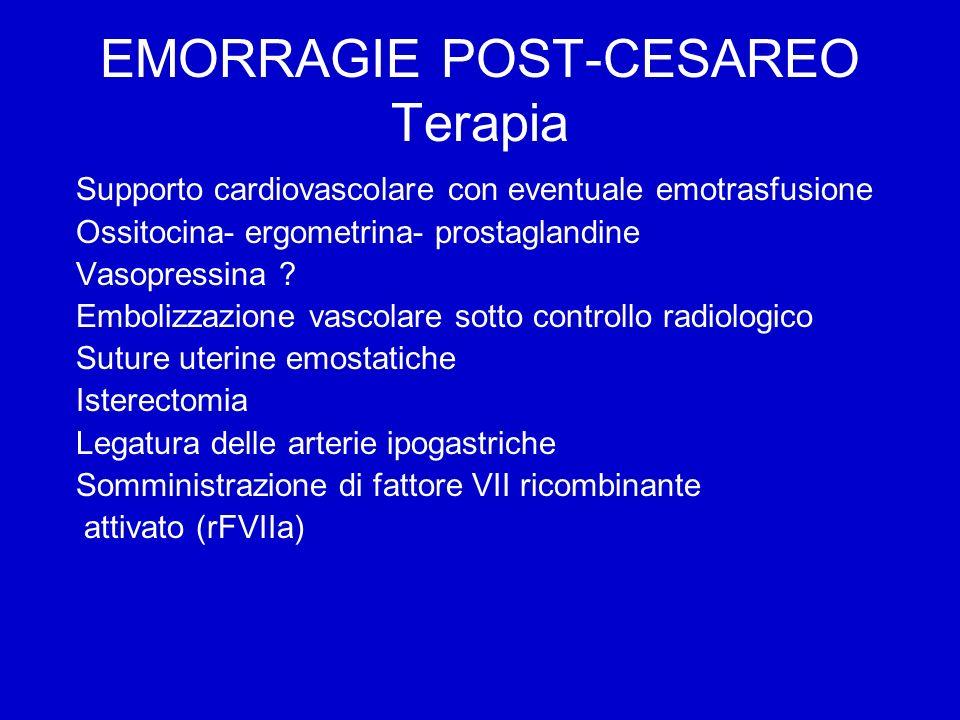 EMORRAGIE POST-CESAREO Terapia