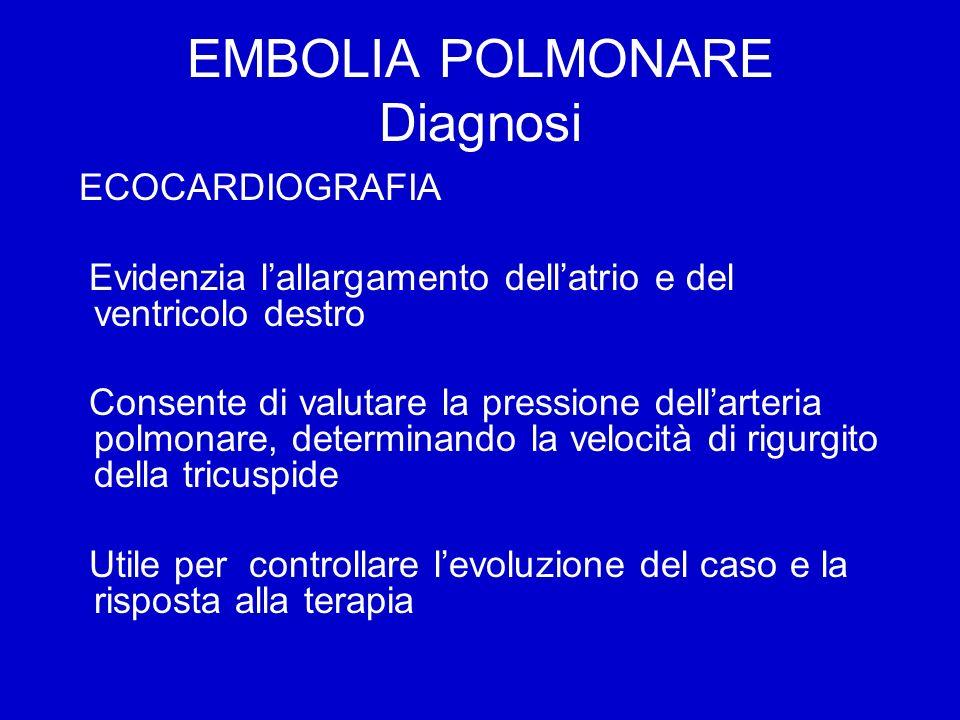 EMBOLIA POLMONARE Diagnosi