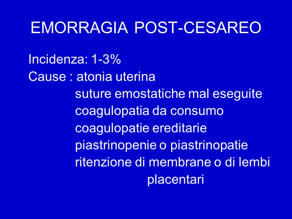 EMORRAGIA POST-CESAREO