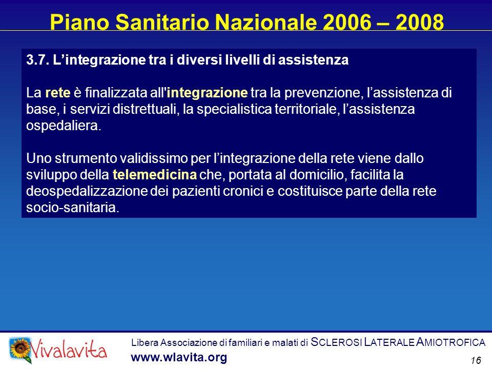 Piano Sanitario Nazionale 2006 – 2008