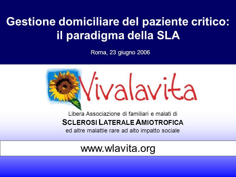 Gestione domiciliare del paziente critico: il paradigma della SLA