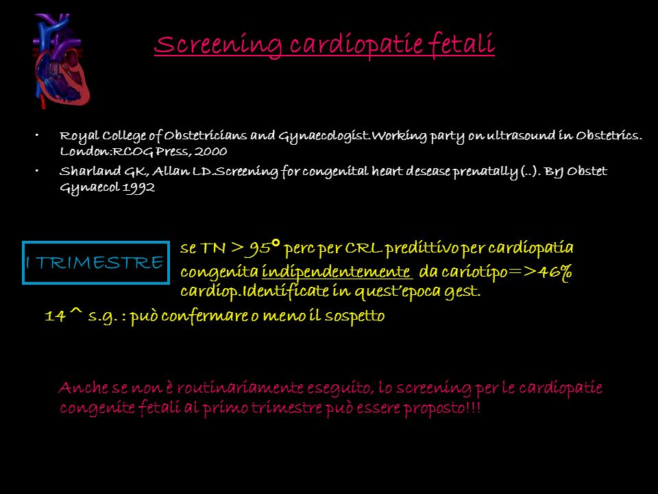 Screening cardiopatie fetali