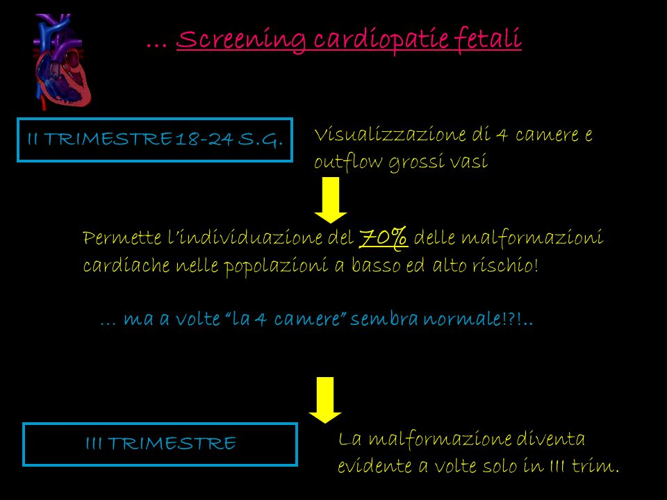 … Screening cardiopatie fetali