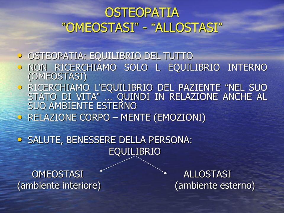 OMEOSTASI - ALLOSTASI