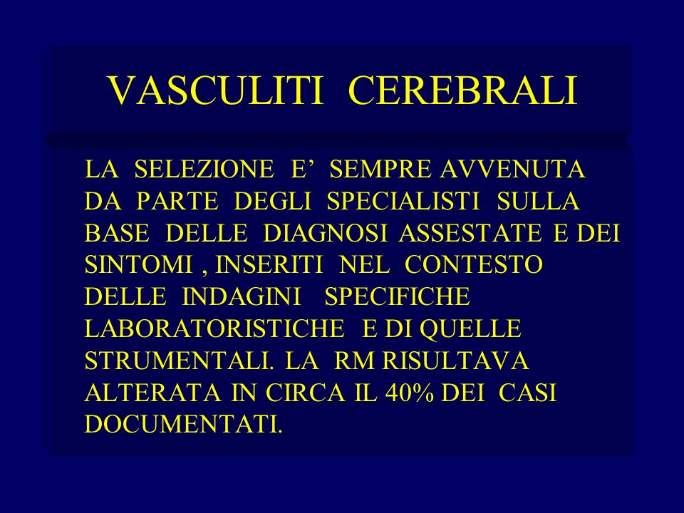 VASCULITI CEREBRALI