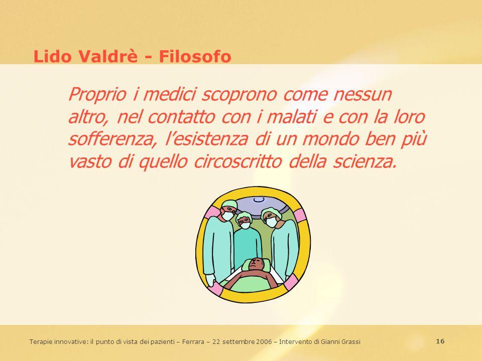 Lido Valdrè - Filosofo