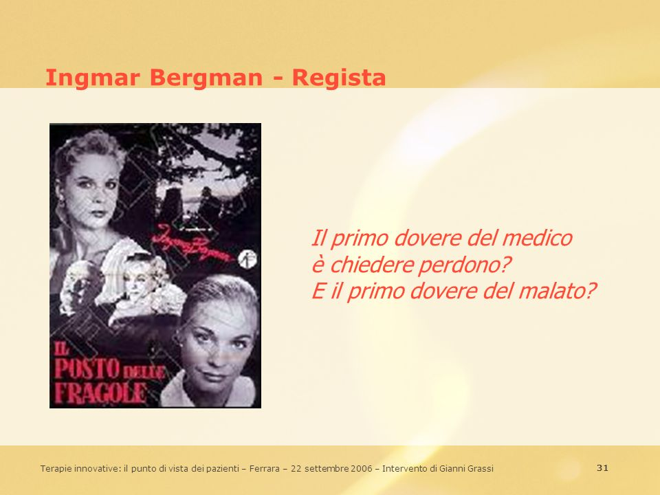 Ingmar Bergman - Regista