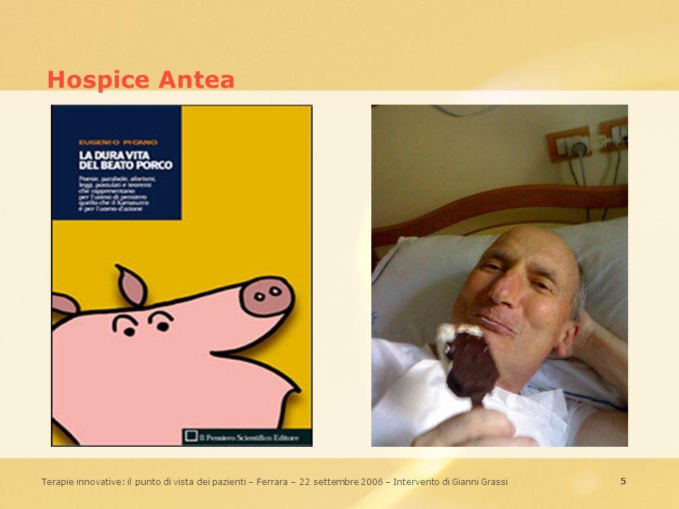 Hospice Antea Aggregation: Composizione di contenuti eterogenei