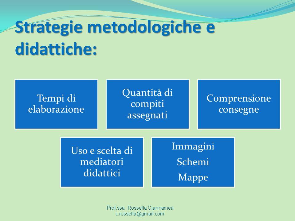 Strategie metodologiche e didattiche: