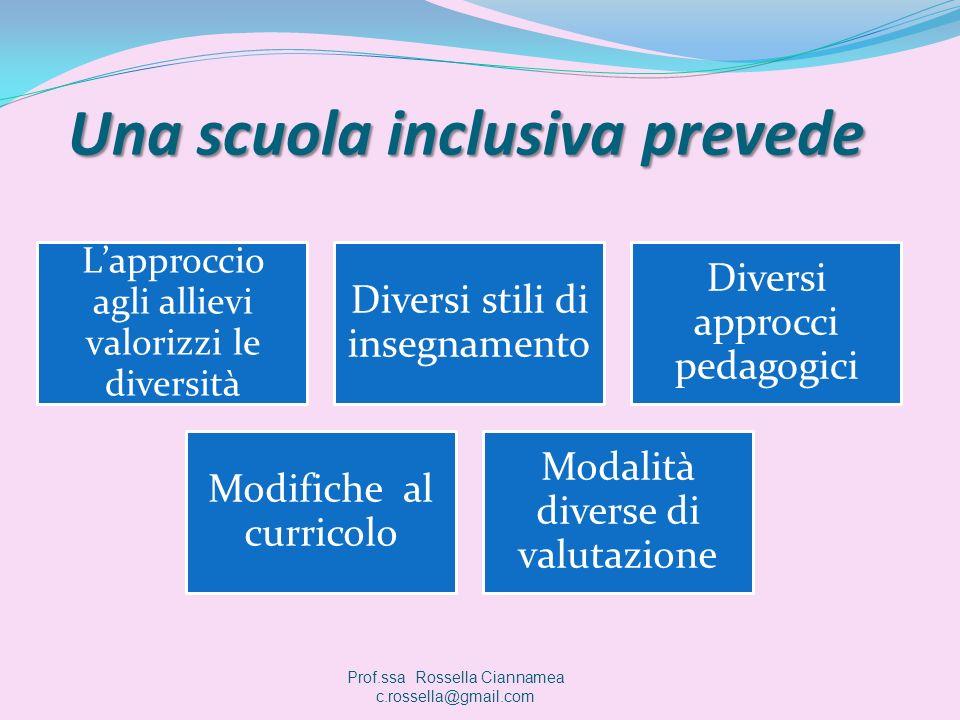 Una scuola inclusiva prevede