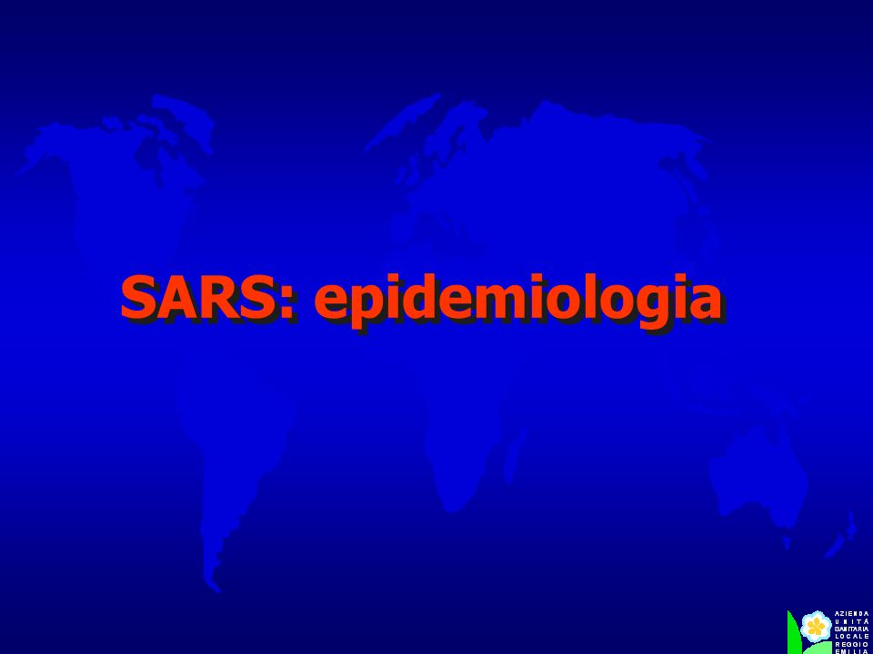 SARS: epidemiologia