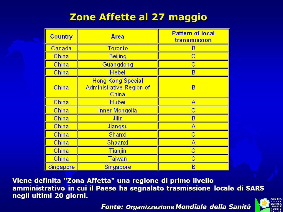 Fonte: Organizzazione Mondiale della Sanità