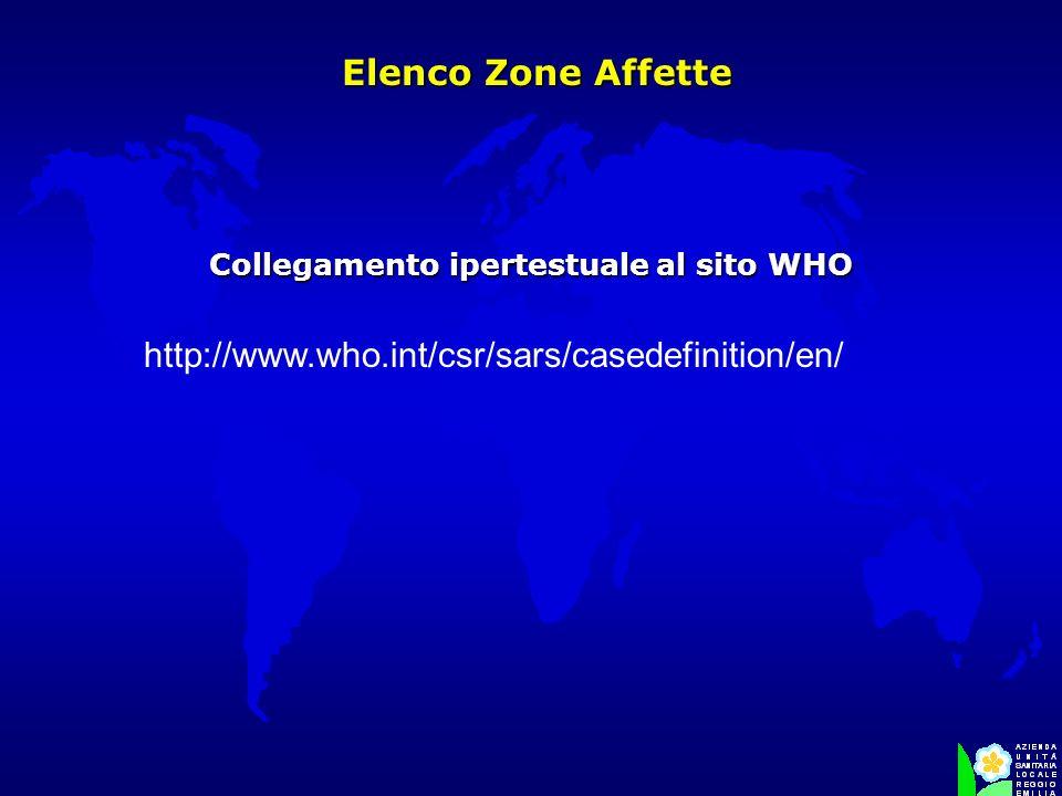 Collegamento ipertestuale al sito WHO