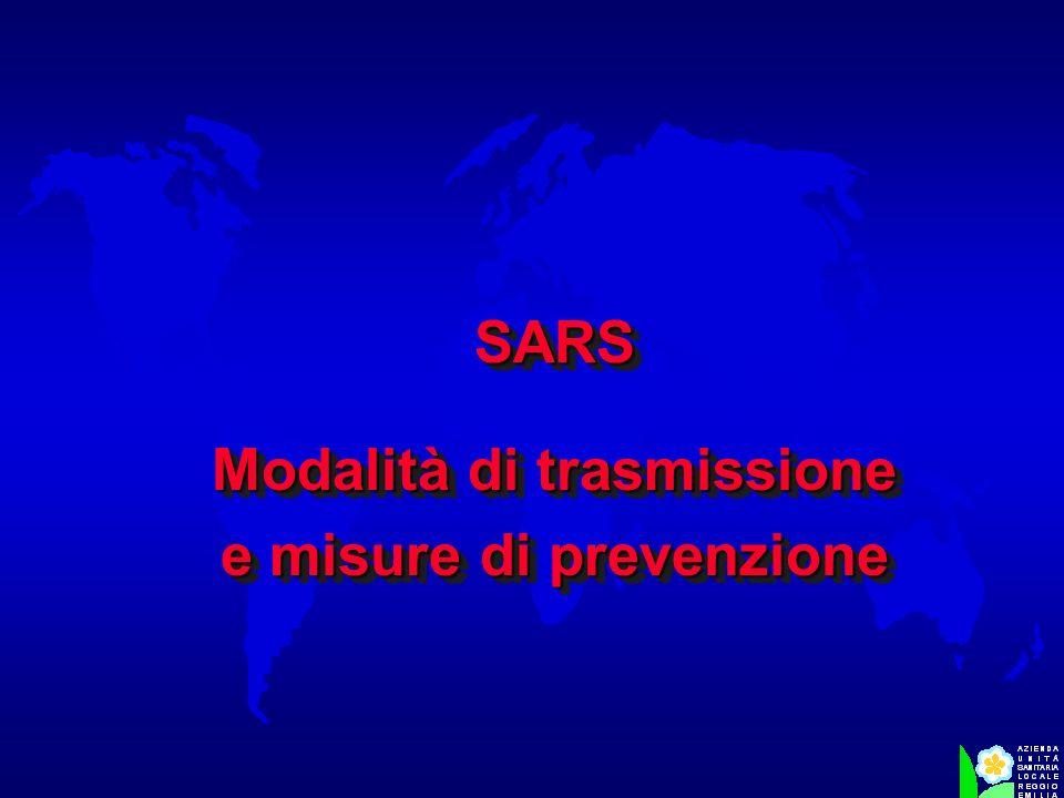 Modalità di trasmissione e misure di prevenzione