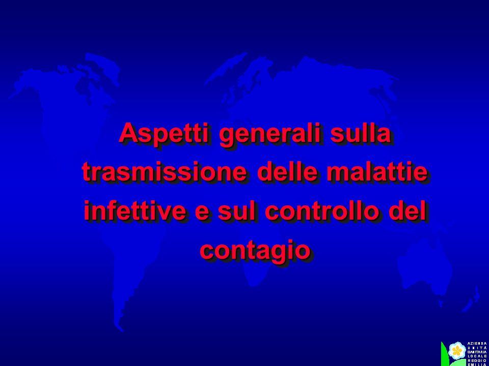 Aspetti generali sulla trasmissione delle malattie infettive e sul controllo del contagio