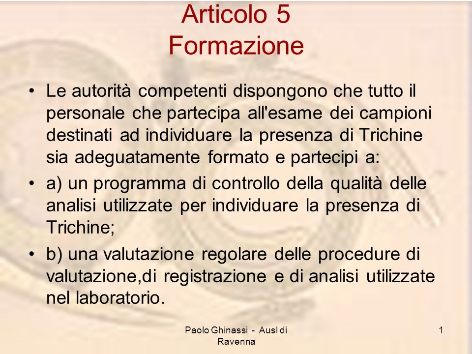 Paolo Ghinassi - Ausl di Ravenna