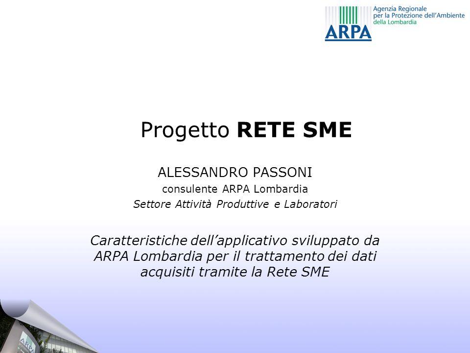 Progetto RETE SME ALESSANDRO PASSONI