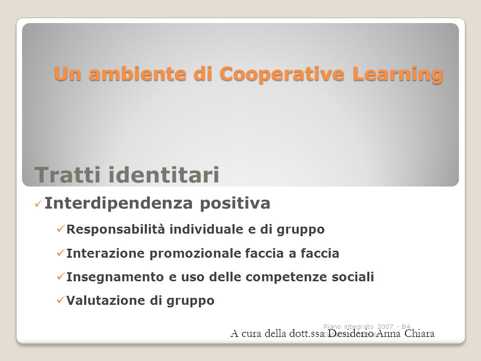 Un ambiente di Cooperative Learning