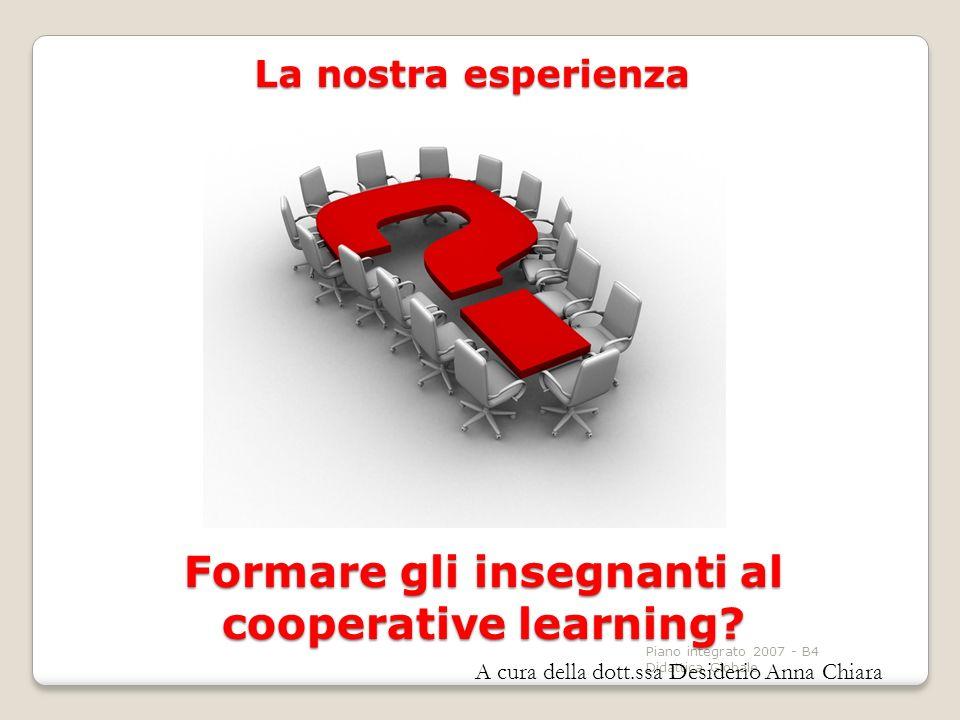 Formare gli insegnanti al cooperative learning