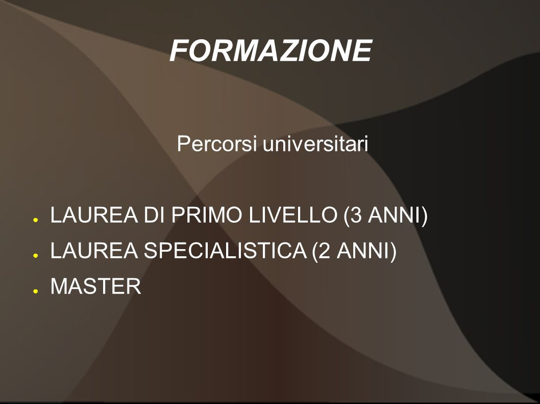 Percorsi universitari