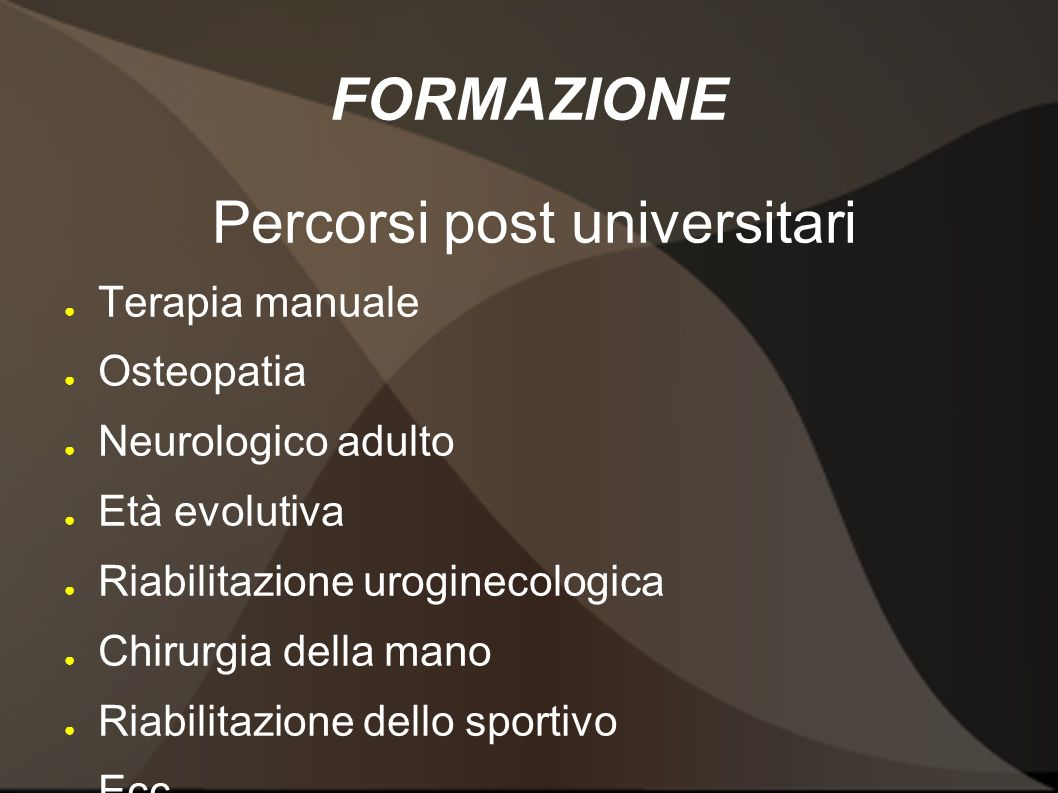 Percorsi post universitari