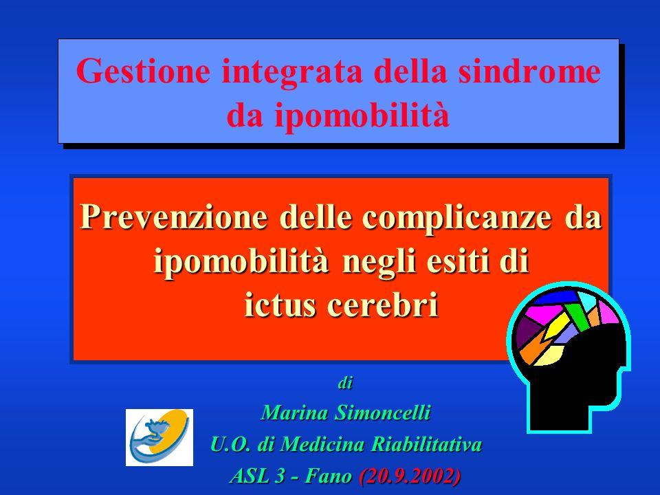 Gestione integrata della sindrome da ipomobilità