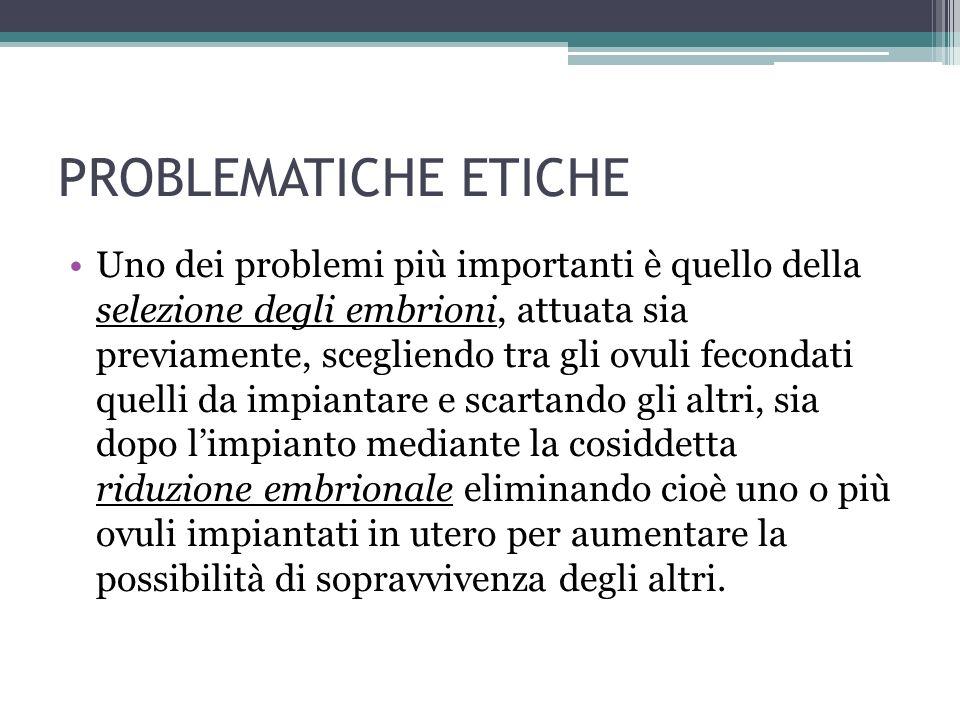 PROBLEMATICHE ETICHE
