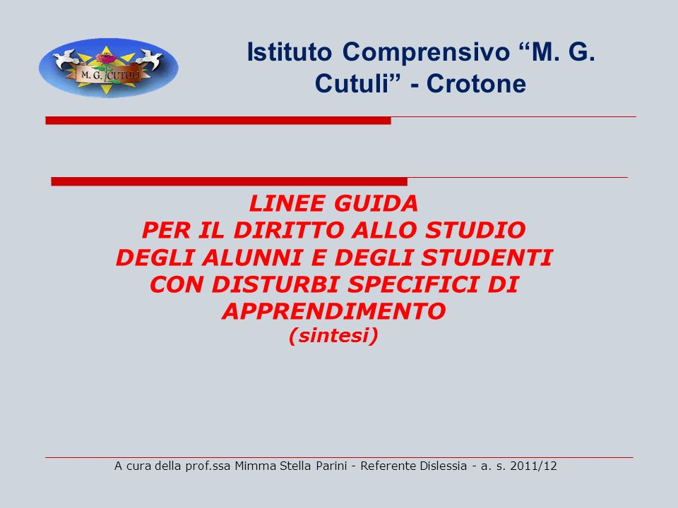 Istituto Comprensivo M. G. Cutuli - Crotone
