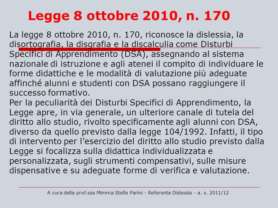 Legge 8 ottobre 2010, n. 170