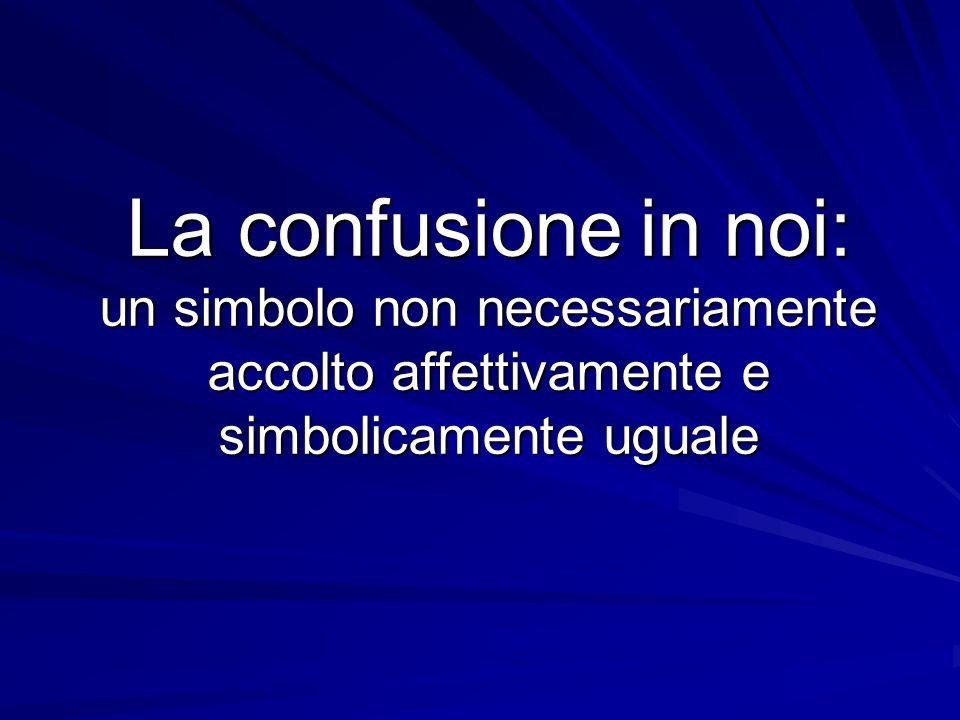 La confusione in noi: un simbolo non necessariamente accolto affettivamente e simbolicamente uguale
