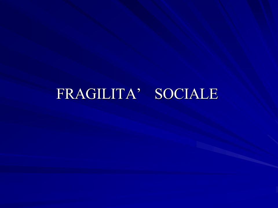 FRAGILITA' SOCIALE