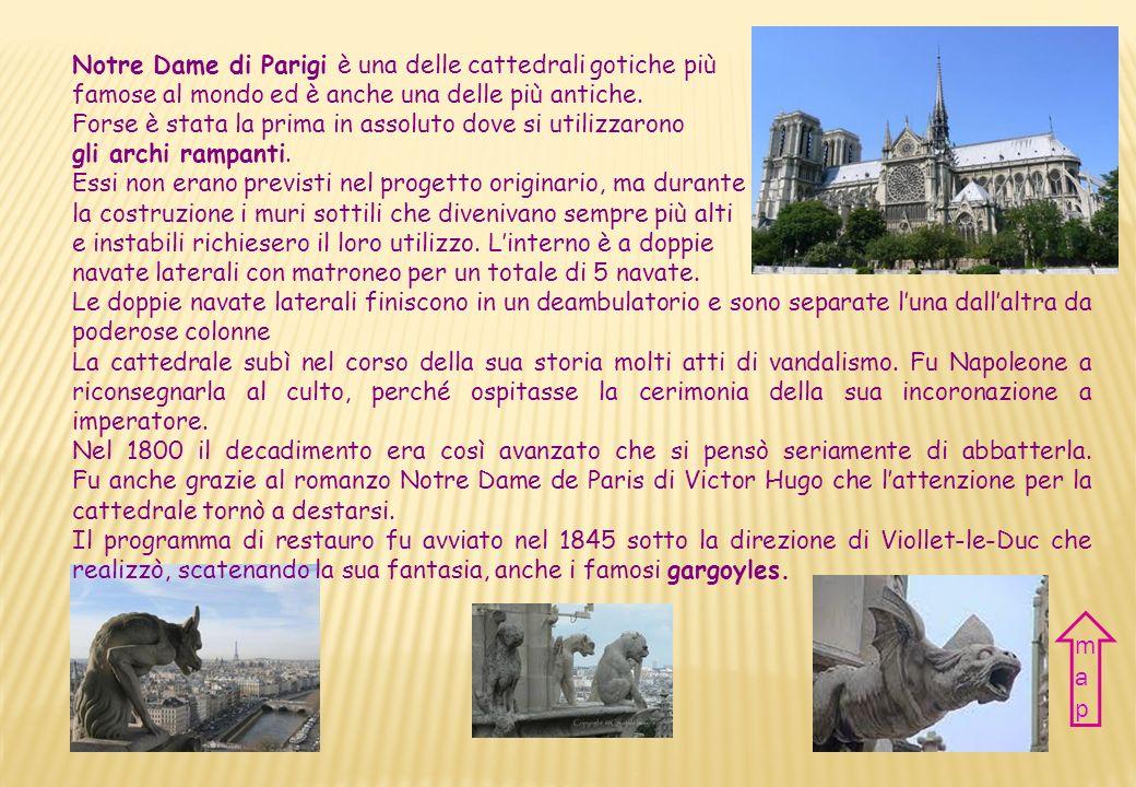 map Notre Dame di Parigi è una delle cattedrali gotiche più