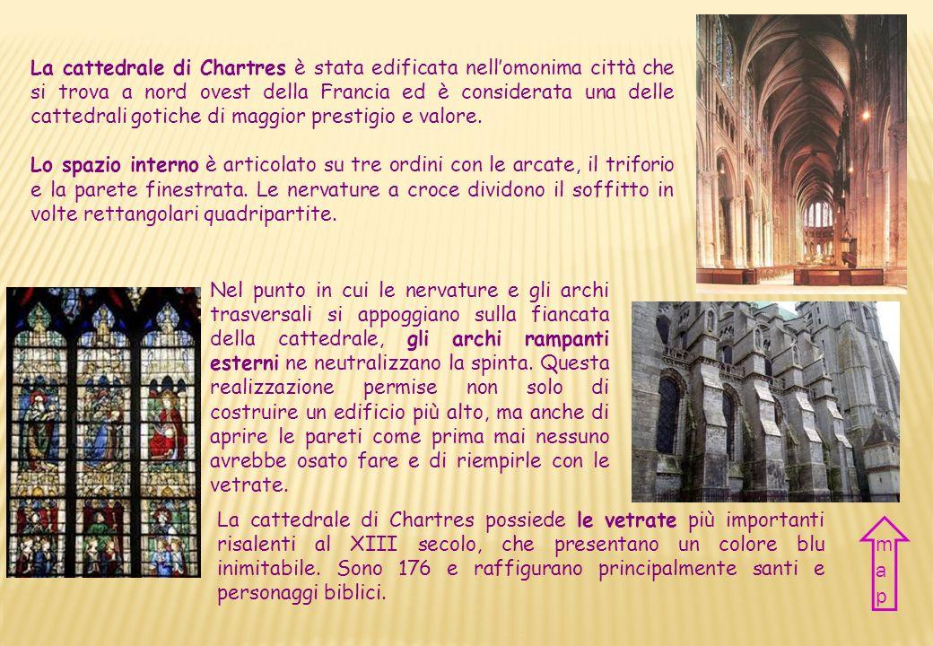 La cattedrale di Chartres è stata edificata nell'omonima città che si trova a nord ovest della Francia ed è considerata una delle cattedrali gotiche di maggior prestigio e valore.