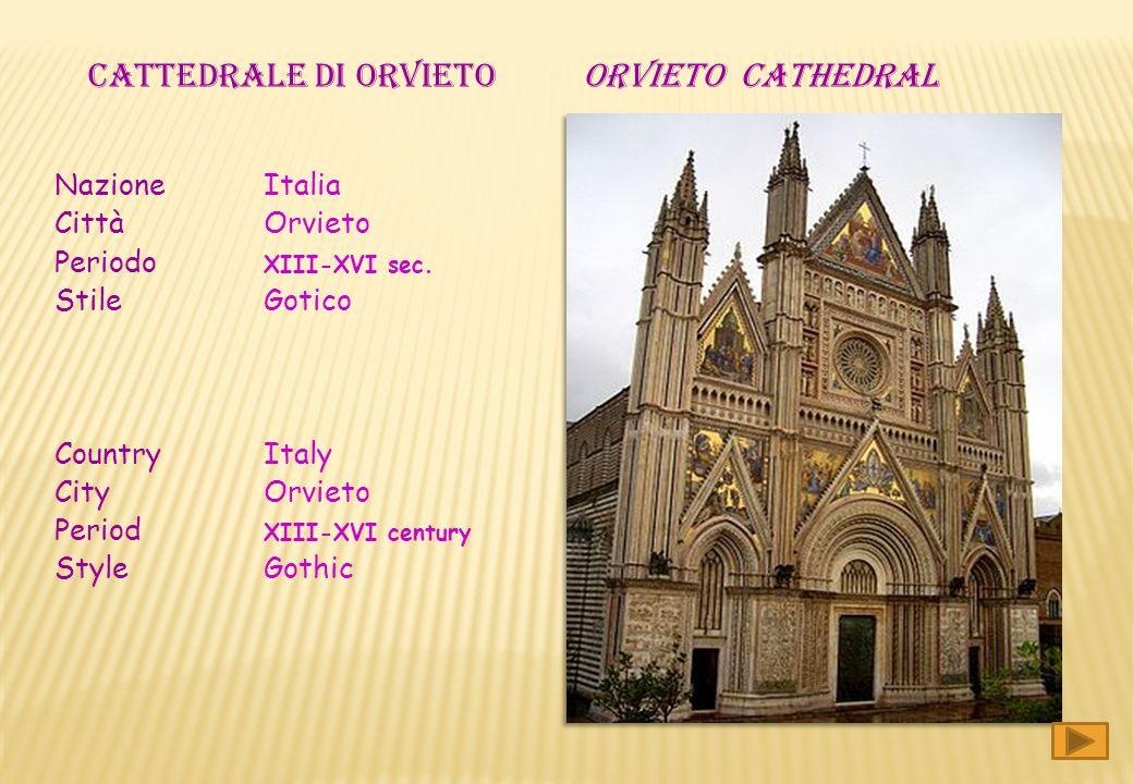 CATTEDRALE DI ORVIETO ORVIETO cathedral