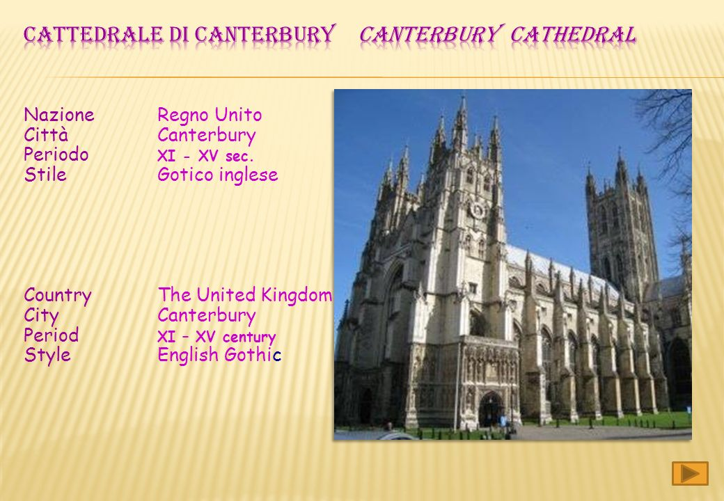 CATTEDRALE DI CANTERBURY CANTERBURY CATHEDRAL