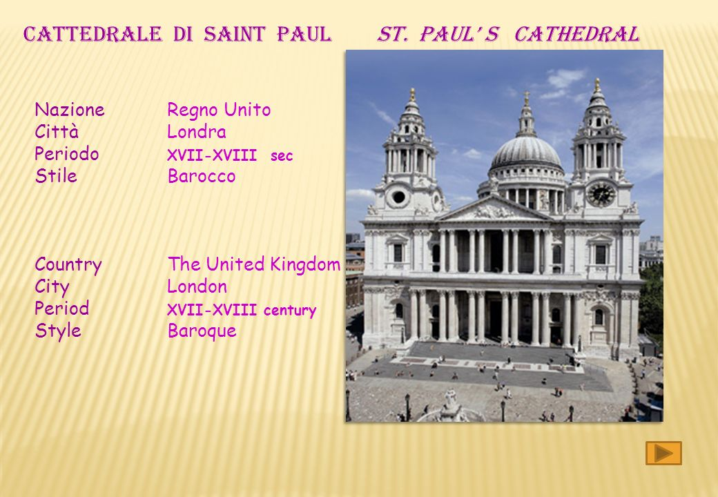 CATTEDRALE DI SAINT PAUL ST. PAUL' S CATHEDRAL
