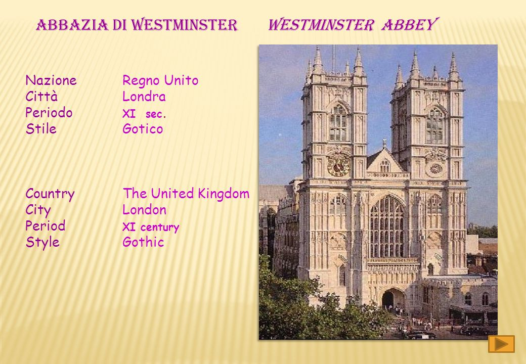 ABBAZIA DI WESTMINSTER WESTMINSTER abbey