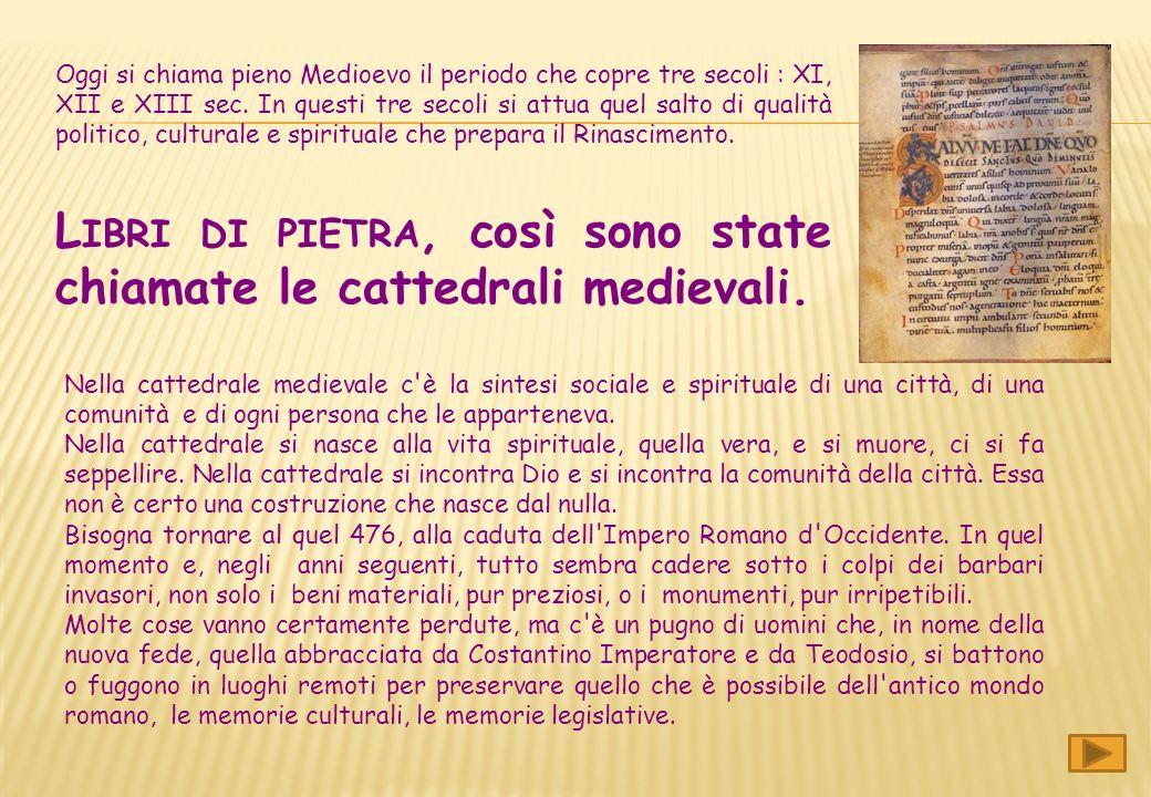 Libri di pietra, così sono state chiamate le cattedrali medievali.