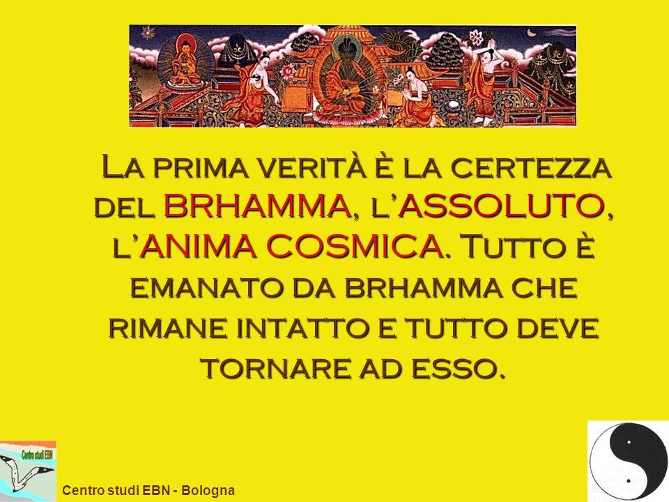 La prima verità è la certezza del BRHAMMA, l'ASSOLUTO, l'ANIMA COSMICA