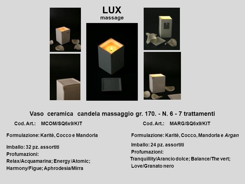 Vaso ceramica candela massaggio gr. 170. - N. 6 - 7 trattamenti